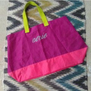   Aerie Huge XL Nylon Purple & Pink Tote Bag  